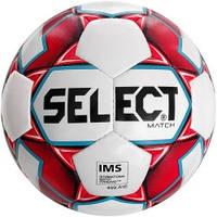 Мяч футбольный SELECT Match IMS (018) бел/красн р.5
