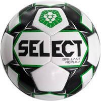 Мяч футбольный SELECT Brillant Replica PFL (011) бел/серый р.5