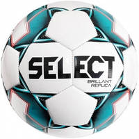 Мяч футбольный SELECT Brillant Peplica (317) бел/зел размер 4