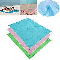 Пляжный коврик анти-песок  Sand Free ( 200 x 150 см ) original , Синий, (Оригинал)