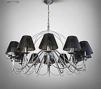 Люстра 12 ламповая для гостиной, зала, большой комнаты с абажурами 18308-2
