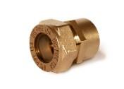 Муфта соединительная (труба-внутренняя резьба латунная) для гофрированной трубы из нержавейки Dispipe.