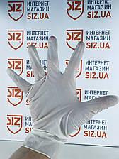 Перчатки латексные неопудренные, белого цвета