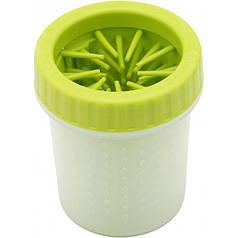 Лапомойка для маленьких собак Soft Gentle 11 см Зеленая