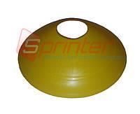 Фишка футбольная для пола малая желтая