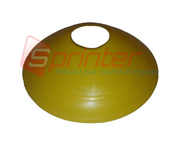 Фишка футбольная малая желтая 0-500