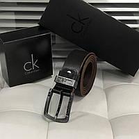 Чоловічий шкіряний ремінь для джинсів (404) коричневий