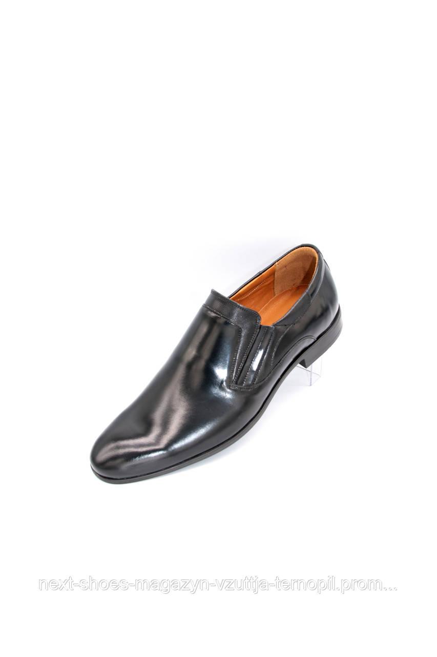 Чоловічі туфлі TAPI (чорні) ідеально підходять під костюм.