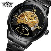 Мужские механические часы скелетоны с автоподзаводом T-WINNER