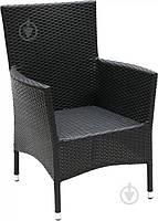 Садовое кресло черное (искуственный ротанг), фото 1