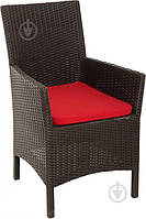 Садовое кресло шоколадное с подушкой (искуственный ротанг), фото 1