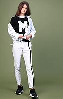 Белые льняные брюки для девочки  тм MONE р-ры 146,152