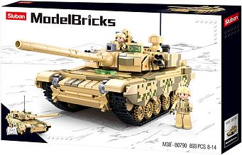 """Конструктор Танк Sluban M38-B0790 из серии """"Армия"""" 893 деталей."""