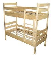 Ліжко дитяче з натуральной деревини 2-во ярусне (Соcна)