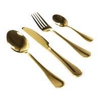 Набор столовых приборов 4 предмета, золото, Столовые приборы, Столові прилади, Набір столових приладів 4 предмета, золото