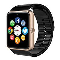 Умные часы GT08, черный с золотом, Смарт-часы и фитнес-браслеты, Смарт-годинник і фітнес-браслети, Розумні годинник GT08, чорний з золотом