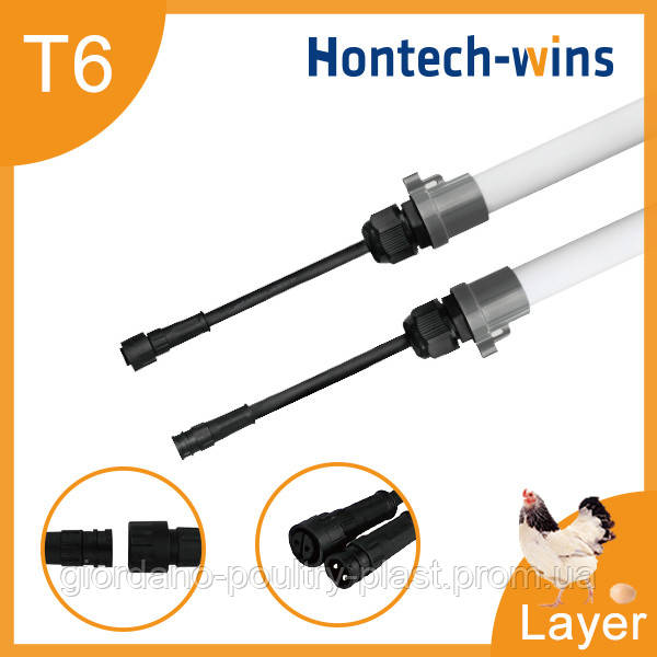 LED освещение для курей несушек, LED светильник для птичника T6 tube