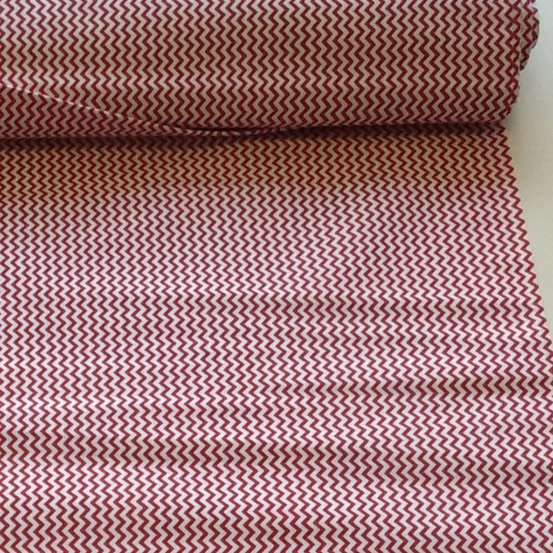 Ткань Бязь Gold красный зигзаг160