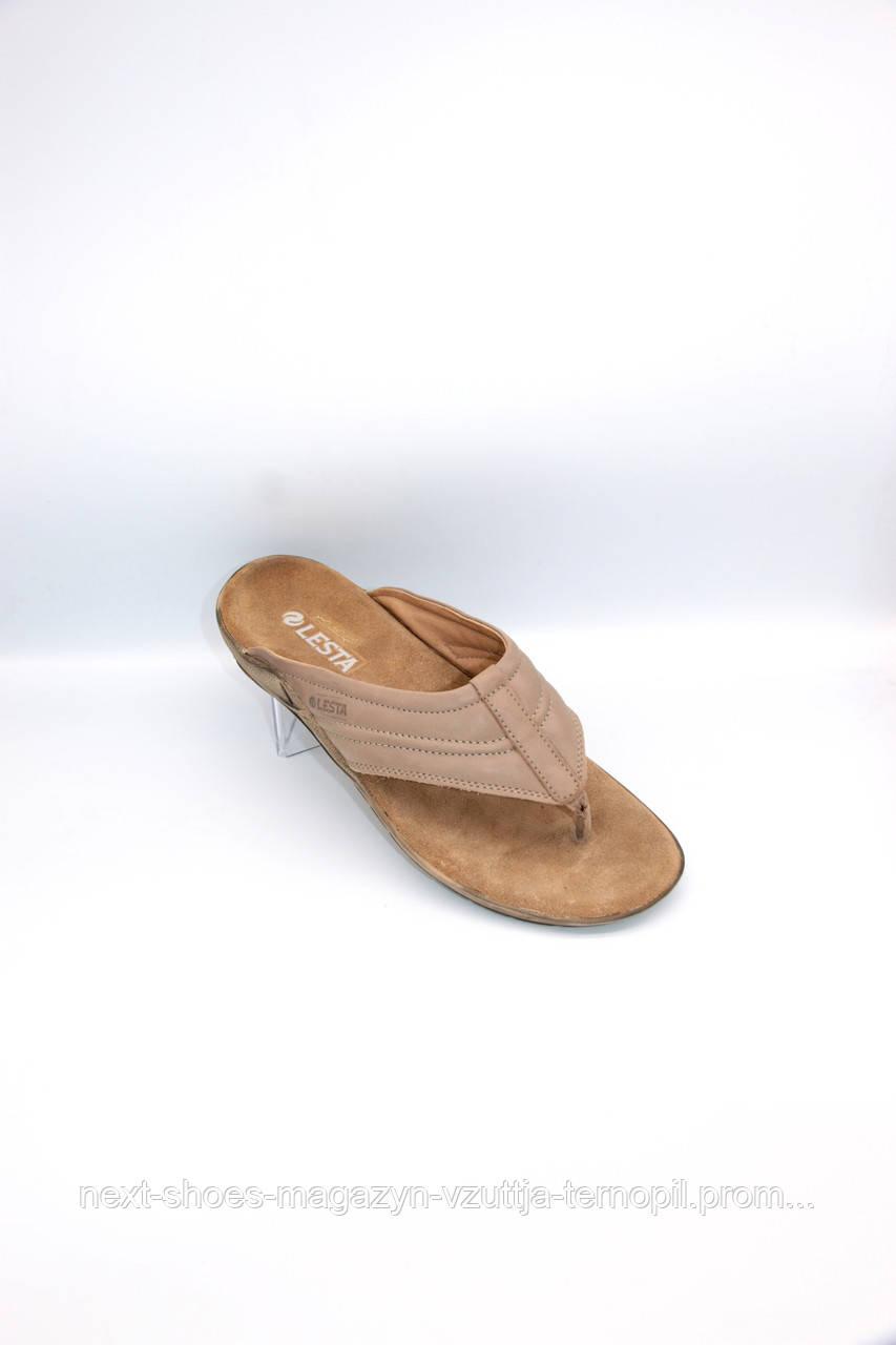 Чоловічі шльопанці LESTA (Польща) світло-коричневого кольору. Дуже легкі та зручні.