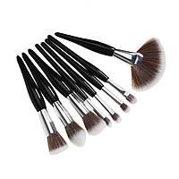 Набор кистей для макияжа, 8 шт., черный, Аксессуары, аксесуари, Набір кистей для макіяжу, 8 шт., чорний