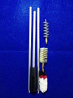 Набор для чистки оружия (калибра 12) ПВХ упаковка, три насадки: спираль, синтетика, пуховик, фото 1