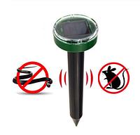 Светильник-отпугиватель кротов, грызунов на солнечной батарее, круглый, фото 1