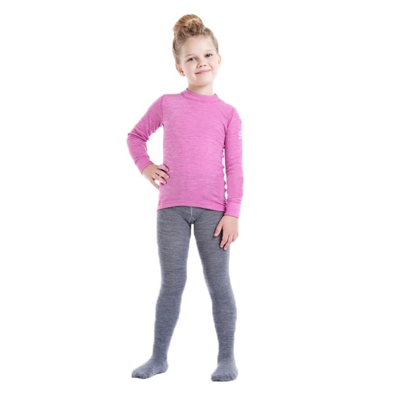 Термоколготки детские NORVEG Soft Merino Wool (размер 74-80, серый)
