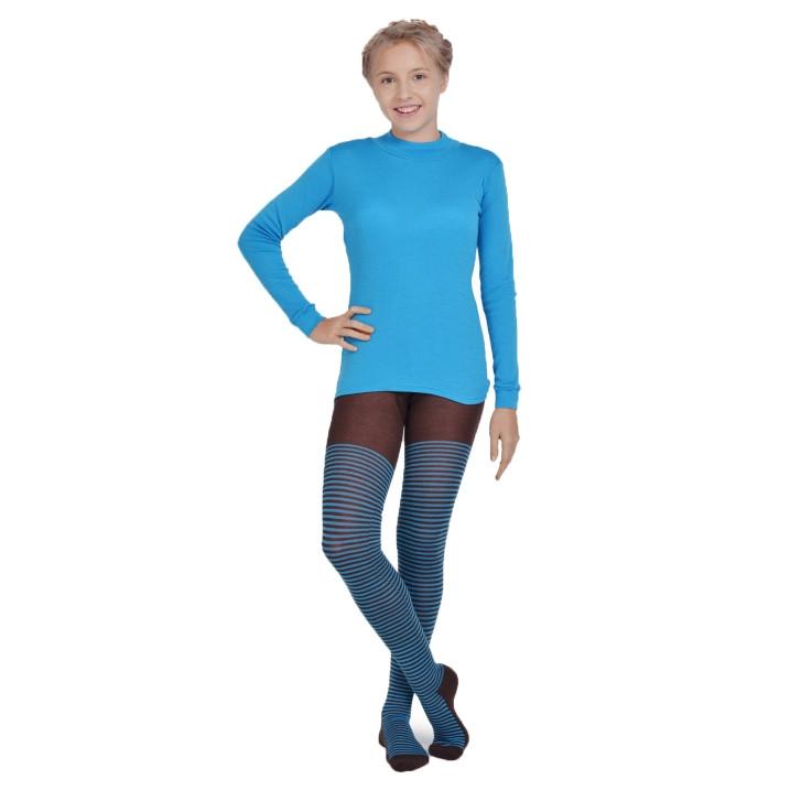 Термоколготки детские NORVEG Soft Merino Wool (размер 74-80, коричневый в полоску)