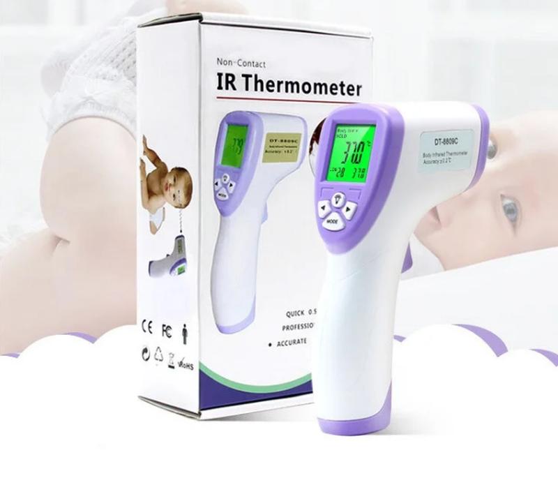 Бесконтактный термометр Non contact DT-8809C для тела и объектов