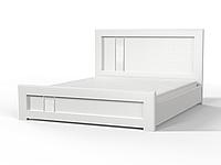 Кровать Зоряна с газовыми подъемниками 180x200 скол дуба белый