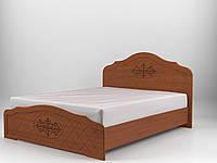 Кровать Лючия с газовыми подъемниками 180x200 орех светлый