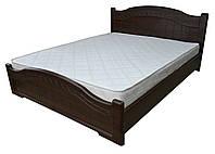 Кровать Доминика с пружинными подъемниками 160x200 орех темный