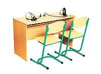 Стіл учнівський для лінгафонного кабінету двомісний
