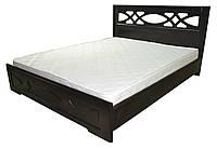 Кровать Лиана с газовыми подъемниками 160x200 венге