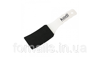 Пилка для педикюра изогнутая 100/180 Kodi (пластиковая белая ручка)
