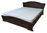 Кровать Виолетта с газовыми подъемниками 180x200 орех темный