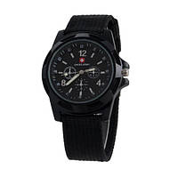 Годинники чоловічі кварцові годинники Swiss Army Black