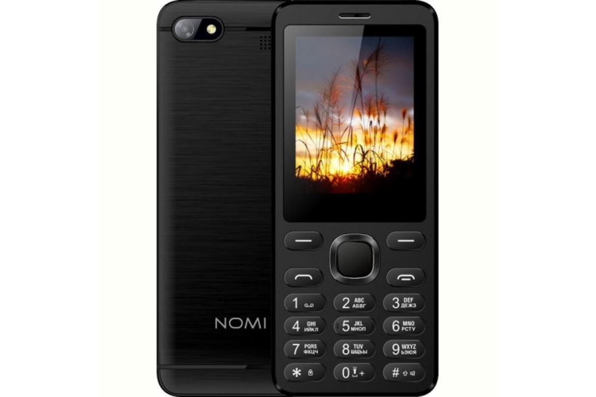 "Кнопочный телефон номи с камерой на 2 sim  Nomi i2411 Black 2.4"" АКБ 1000 мА*ч"