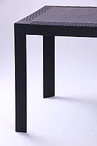 Стол Saturno 80х80 пластик под ротанг эспрессо TM AMF, фото 3