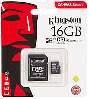 Карта пам'яті KINGSTON micro 16GB (c адаптером)