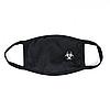 Захисна маска для особи, чорний колір, багаторазова, малий принт білого кольору Virus-Cobra