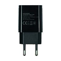 Сетевое зарядное устройство  FLORENCE 1USB 2A BLACK (FL-1020-K)