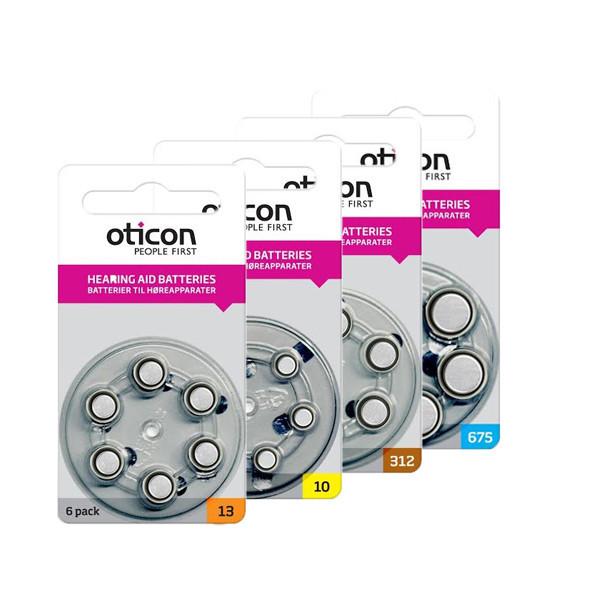 Батарейки для слуховых аппаратов Oticon, Германия