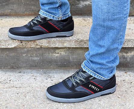 Кроссовки кеды мужские черные фабричные, фото 2