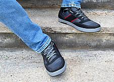 Кроссовки кеды мужские черные фабричные, фото 3