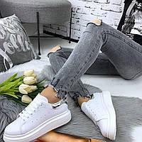 Белоснежные молодежные кроссовки, фото 1