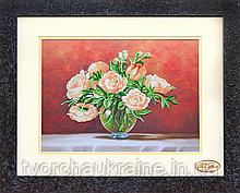 НГ-026 Чайные розы. Набор для вышивания бисером