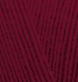 Пряжа для вязания Лана голд файн 57 бордо