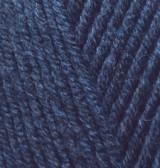 Пряжа для вязания Лана голд файн 58 темно-синий
