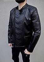 Кожаная куртка мужская осень весна (эко кожа)